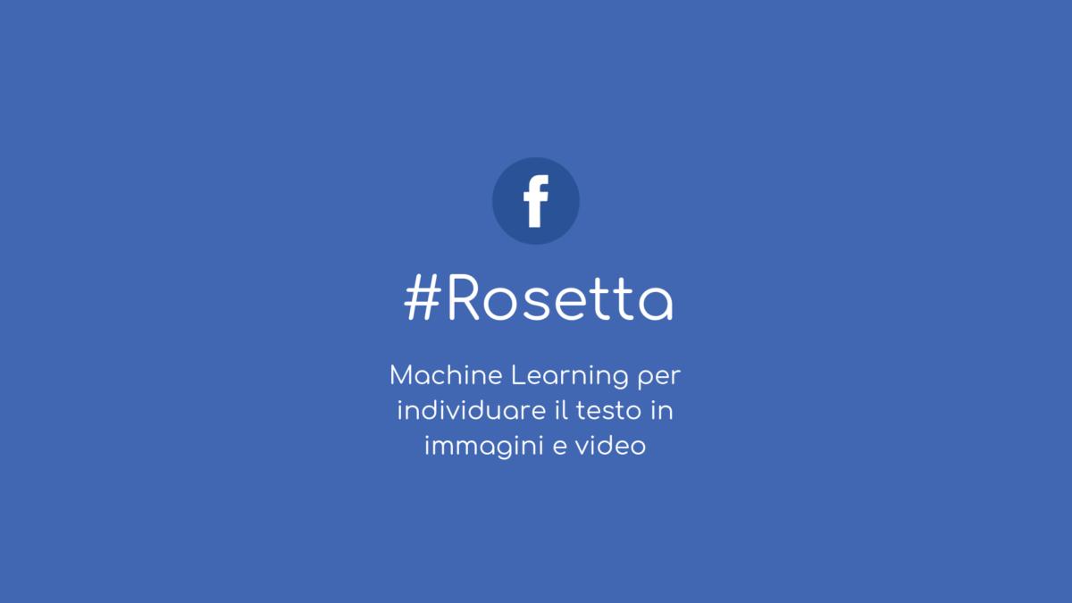 Facebook Rosetta l'algoritmo che impara a leggere nelle immagini e nei video