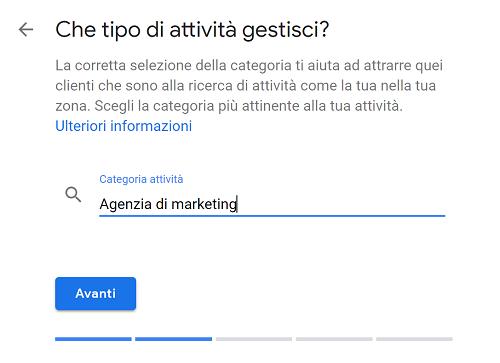 attività di Google My Business